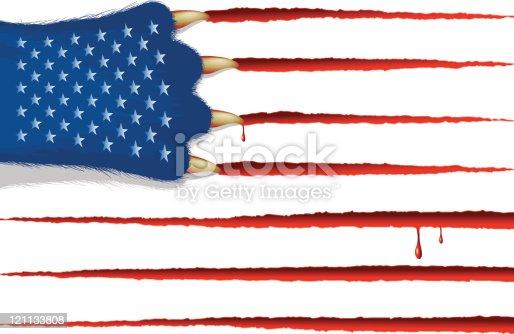 USA flag (CMYK eps8)