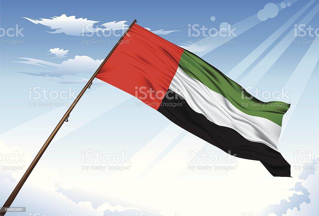 UAE flag - 免版稅商務圖庫向量圖形