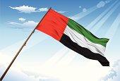 UAE flag illustrated with gradient mesh tool.