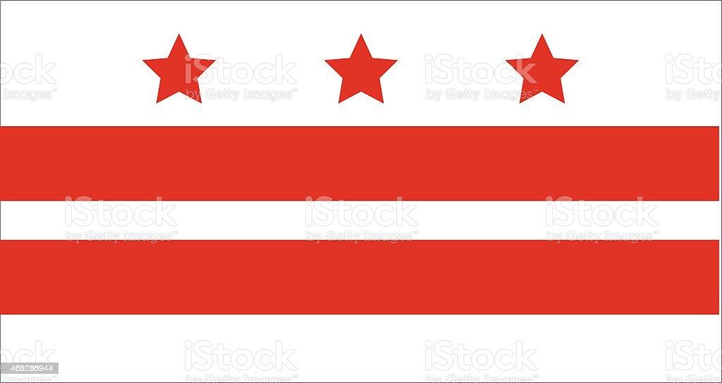 Bandeira de DC - ilustração de arte em vetor