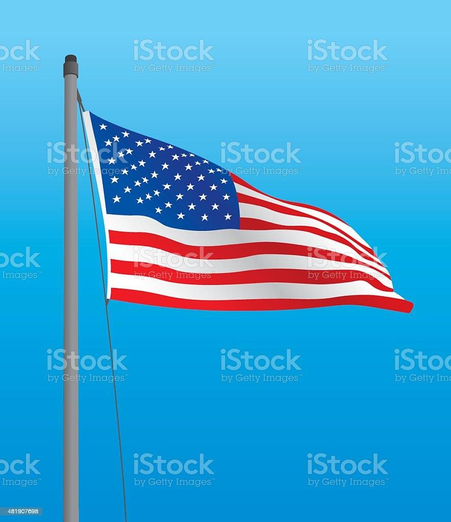 USA Flag vector art illustration