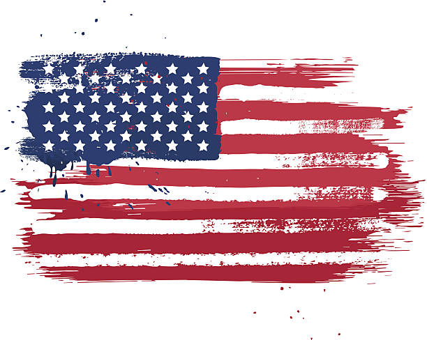 USA Flag Vector Art Illustration