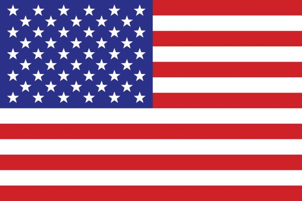us flag - american flag stock illustrations