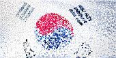 Confetti: South Korean flag.