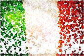 Confetti: Flag of Italy.