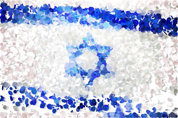 flag - israel independence day stock illustrations, clip art, cartoons, & icons