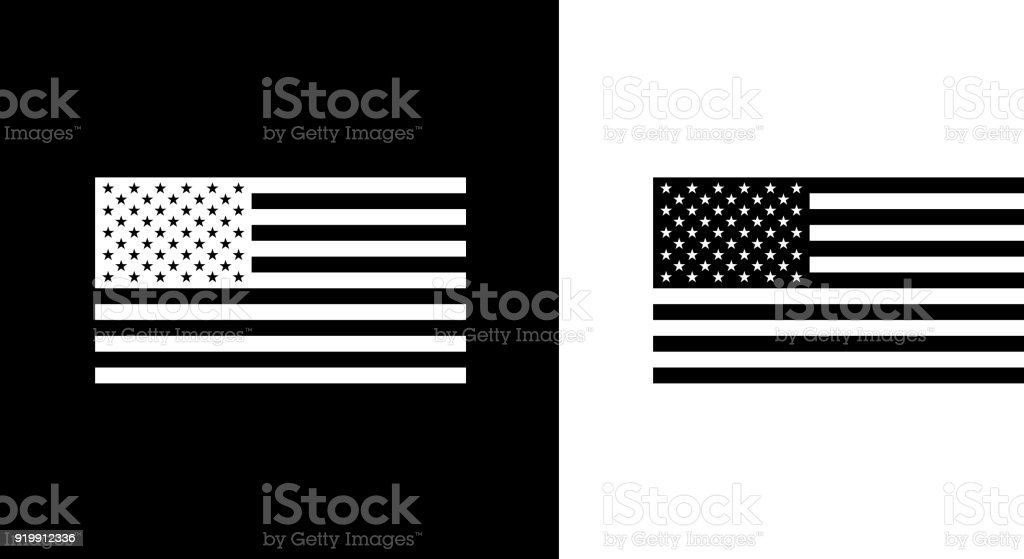 royalty free black and white american flag clip art
