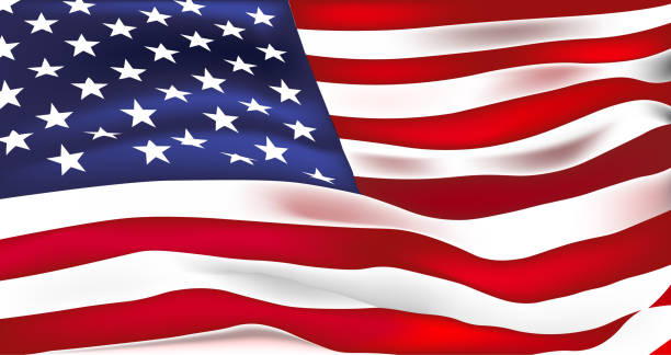 us flag vector. stars and stripes. old glory - american flag stock illustrations