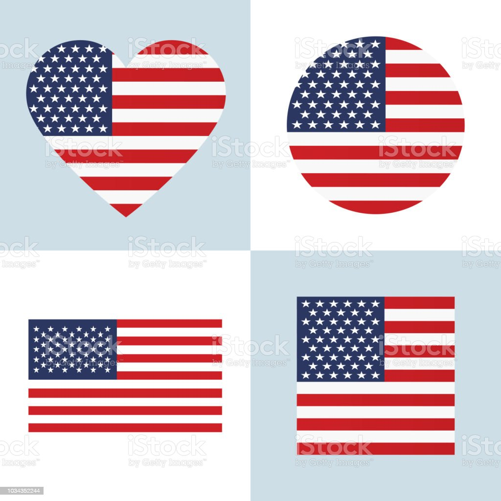 USA flag vector vector art illustration