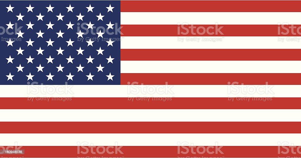USA flag - VECTOR vector art illustration