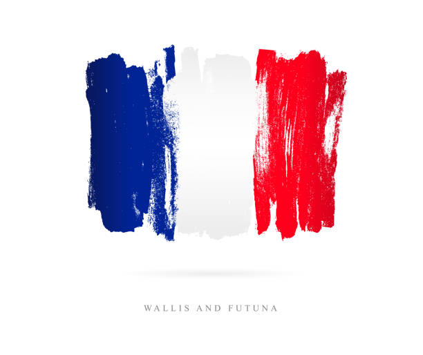 Flagge von Wallis und Futuna. Vektor-illustration – Vektorgrafik
