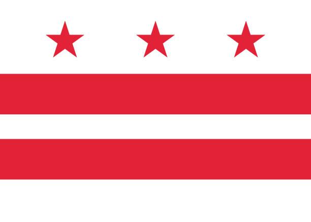 Flag Washington DC vector art illustration