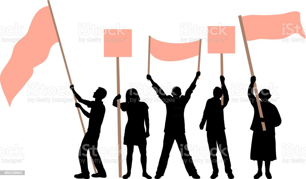 Flag Waving vector art illustration