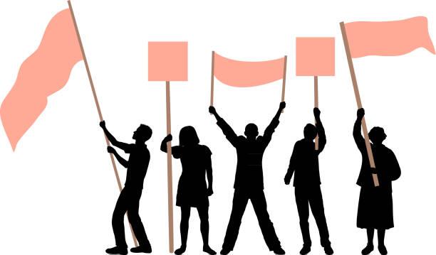 Flag Waving vector art illustration