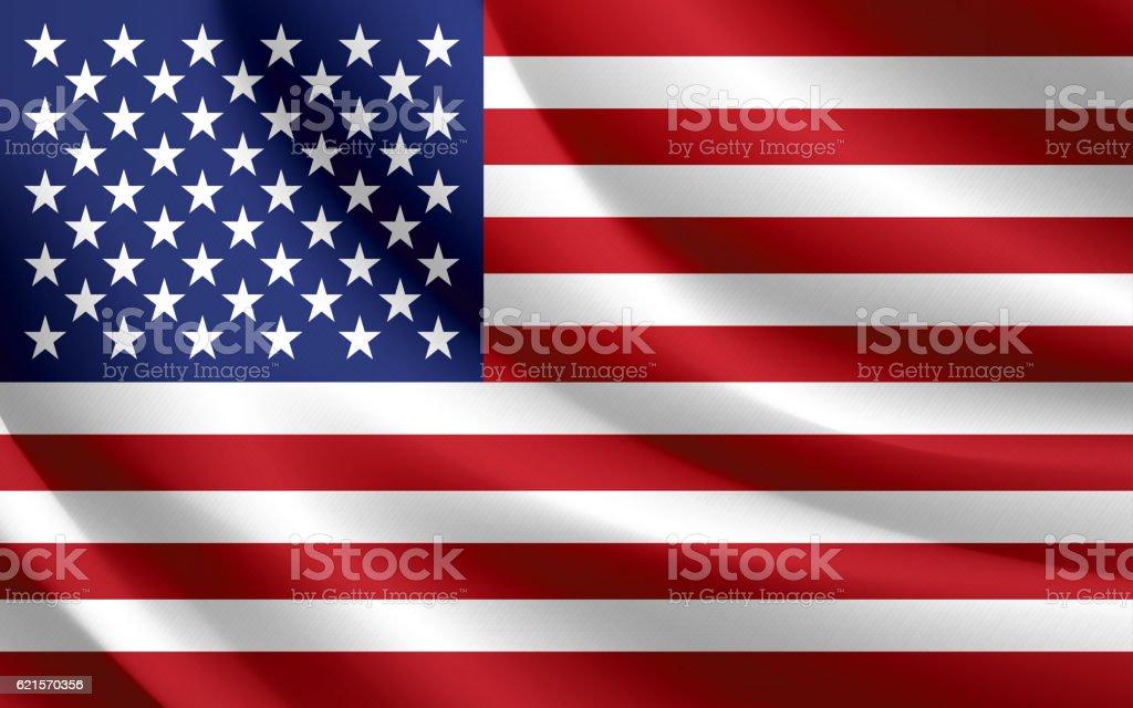 Agitant un drapeau des États-Unis VECTEUR agitant un drapeau des Étatsunis vecteur – cliparts vectoriels et plus d'images de courbe libre de droits