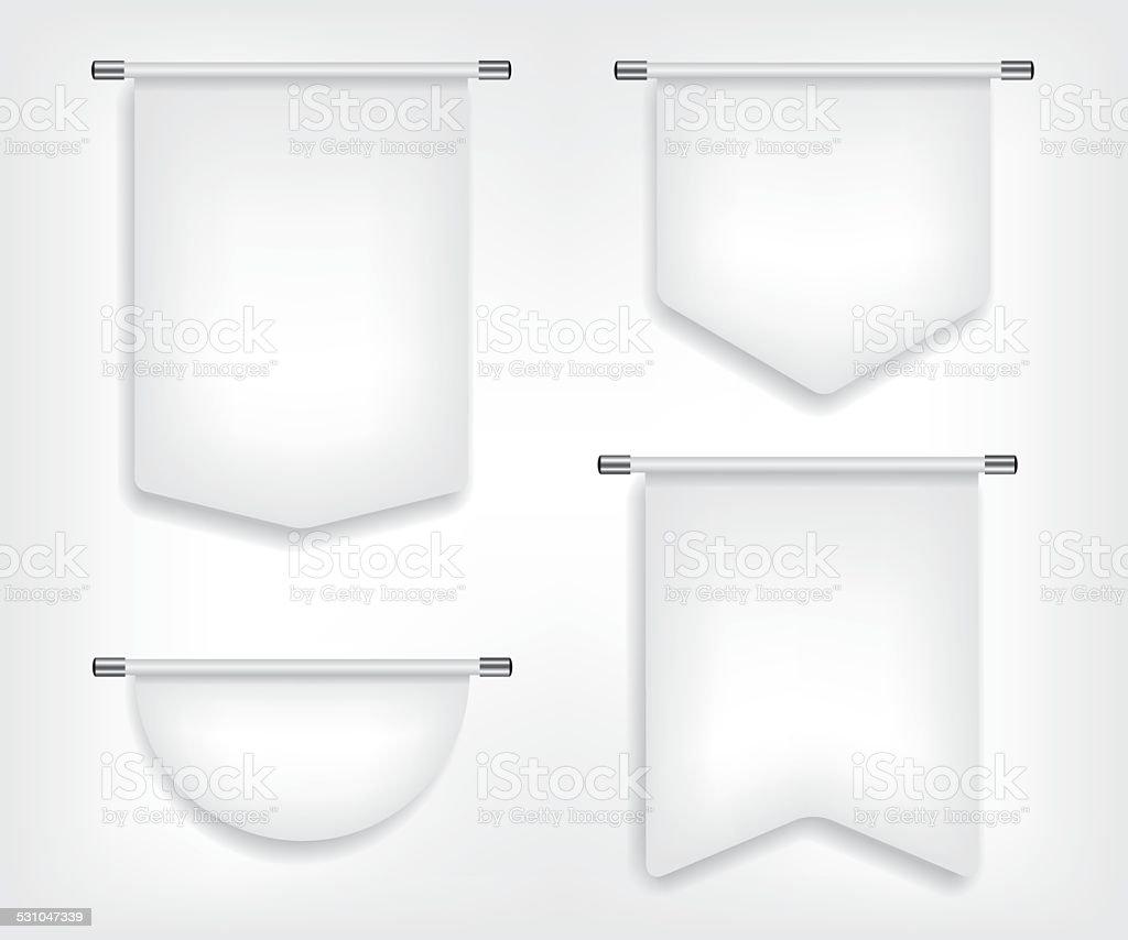 Flag white banner different shapes illustration vector art illustration