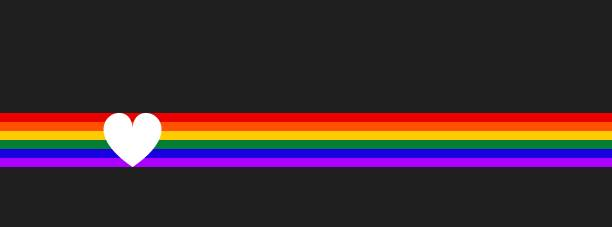 LGBT flag with heart. Symbol lesbian, gay, bisexual, transgender rainbow flag. Poster, card, banner, background vector art illustration