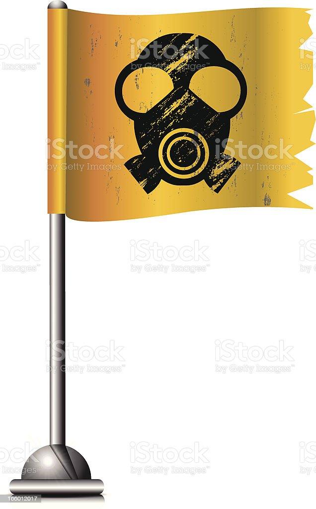 Flag with Radioactive Symbol royalty-free stock vector art