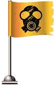 Flag with Radioactive Symbol