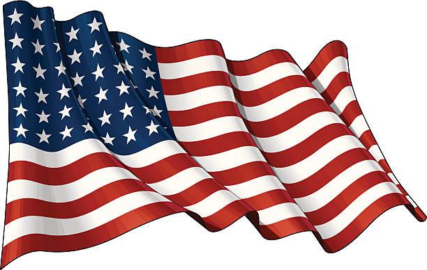ilustraciones, imágenes clip art, dibujos animados e iconos de stock de us flag monumento conmemorativo wwi, wwii (48 estrellas) - bandera de estados unidos