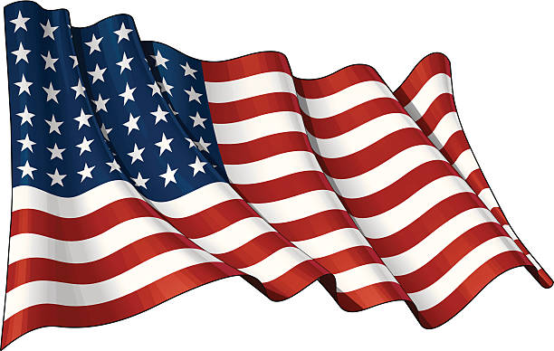 us flag wwi-wwii (48 stars) - usa flag stock illustrations, clip art, cartoons, & icons