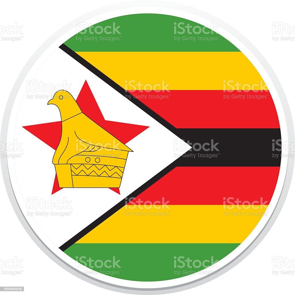 Flag Zimbabwe vector art illustration