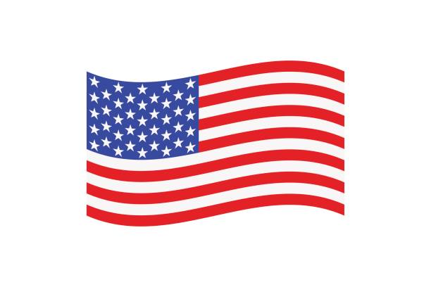 ilustraciones, imágenes clip art, dibujos animados e iconos de stock de flag_1 - bandera de estados unidos