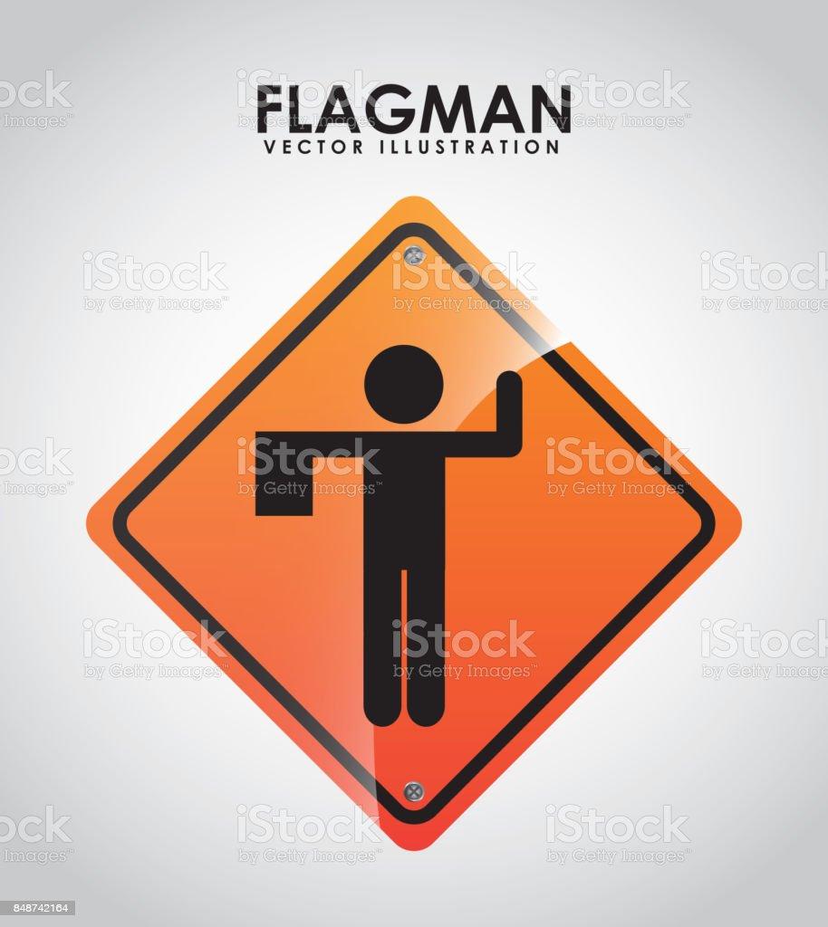 Royalty Free Flagman Clip Art,...