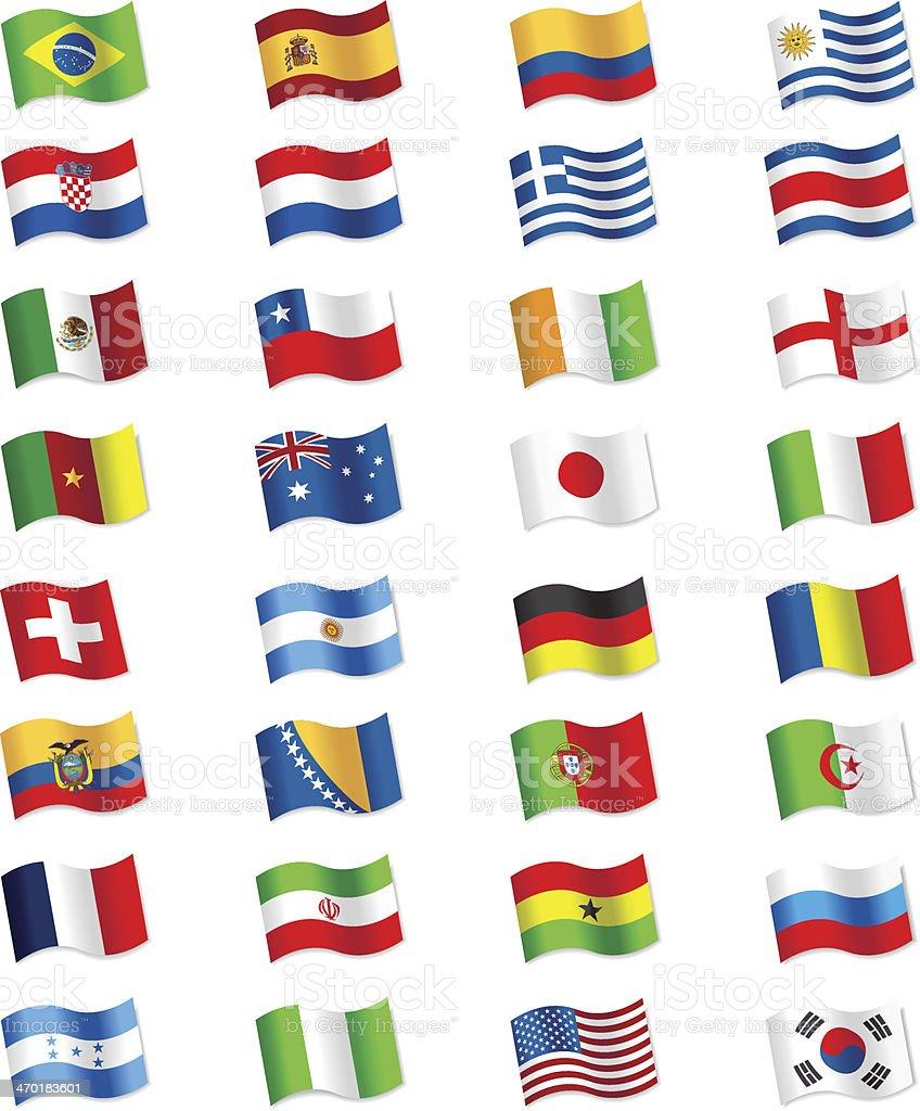 Flags 2014 Brasilien – Vektorgrafik