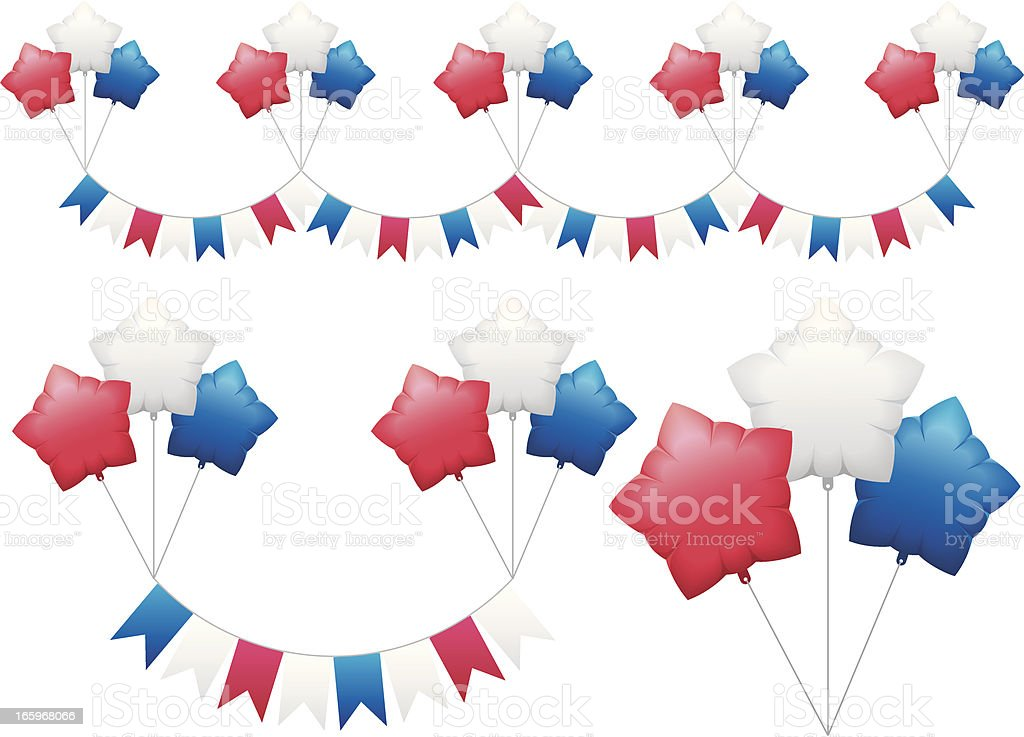 Flags and balloons royalty-free stock vector art