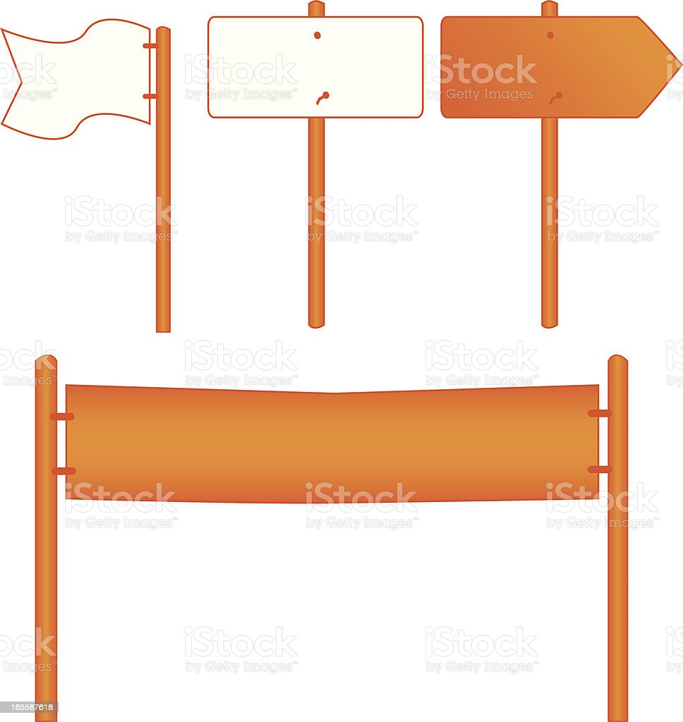 Flags, banners and signs royalty-free stock vector art