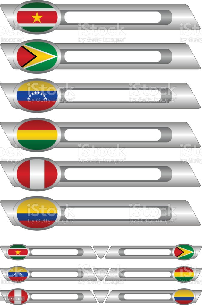 Flags buttons royalty-free flags buttons stock vector art & more images of bolivia