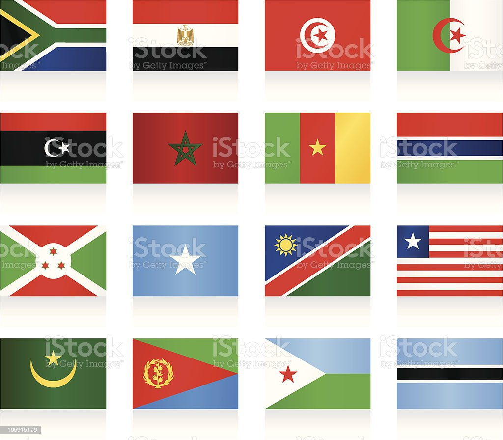 Flags collection - Africa vector art illustration