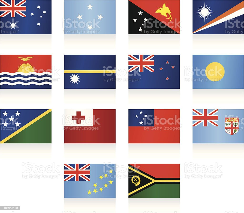 Flags collection - Australia and Oceania royalty-free stock vector art