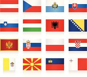 Flags collection - Central and Southern Europe