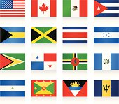 Flags collection - North and Central America
