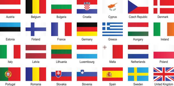 欧州連合旗 - アイルランドの国旗点のイラスト素材/クリップアート素材/マンガ素材/アイコン素材
