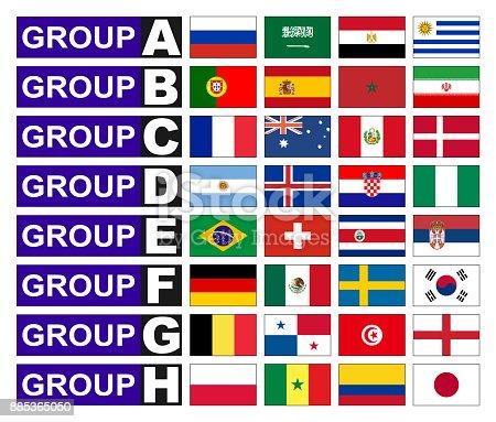 istock Flags football groups 885365050
