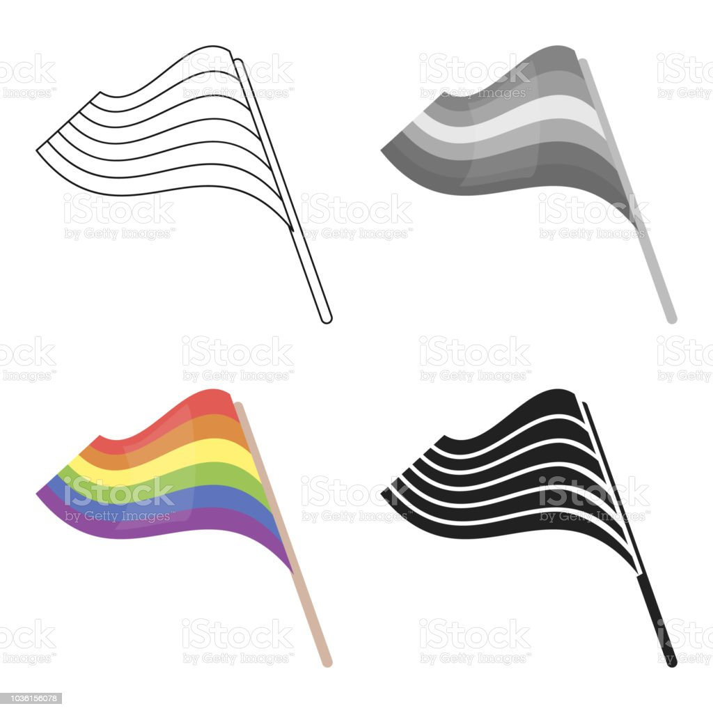 Flags icon cartoon. Single gay icon from the big minority, homosexual cartoon web vector art illustration