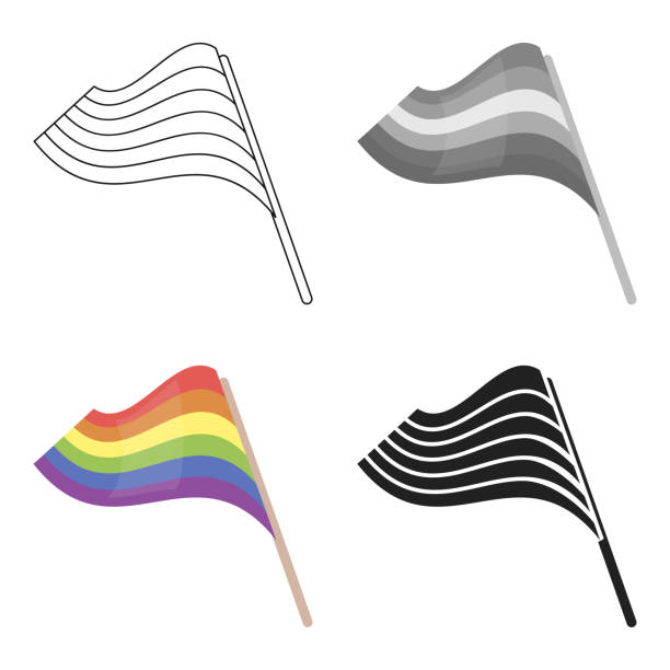 flags icon cartoon. single gay icon from the big minority, homosexual cartoon web - minority stock illustrations, clip art, cartoons, & icons