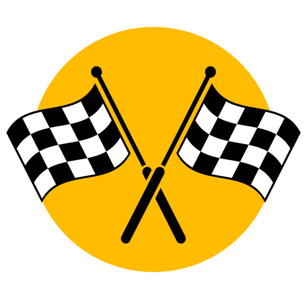 flags icon concept design Illustration of flags icon concept design auto racing stock illustrations