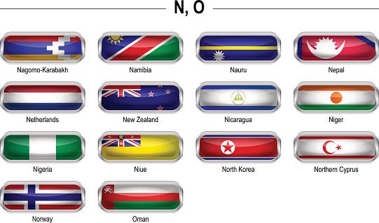 "Flags icon - ""N"", ""O"""