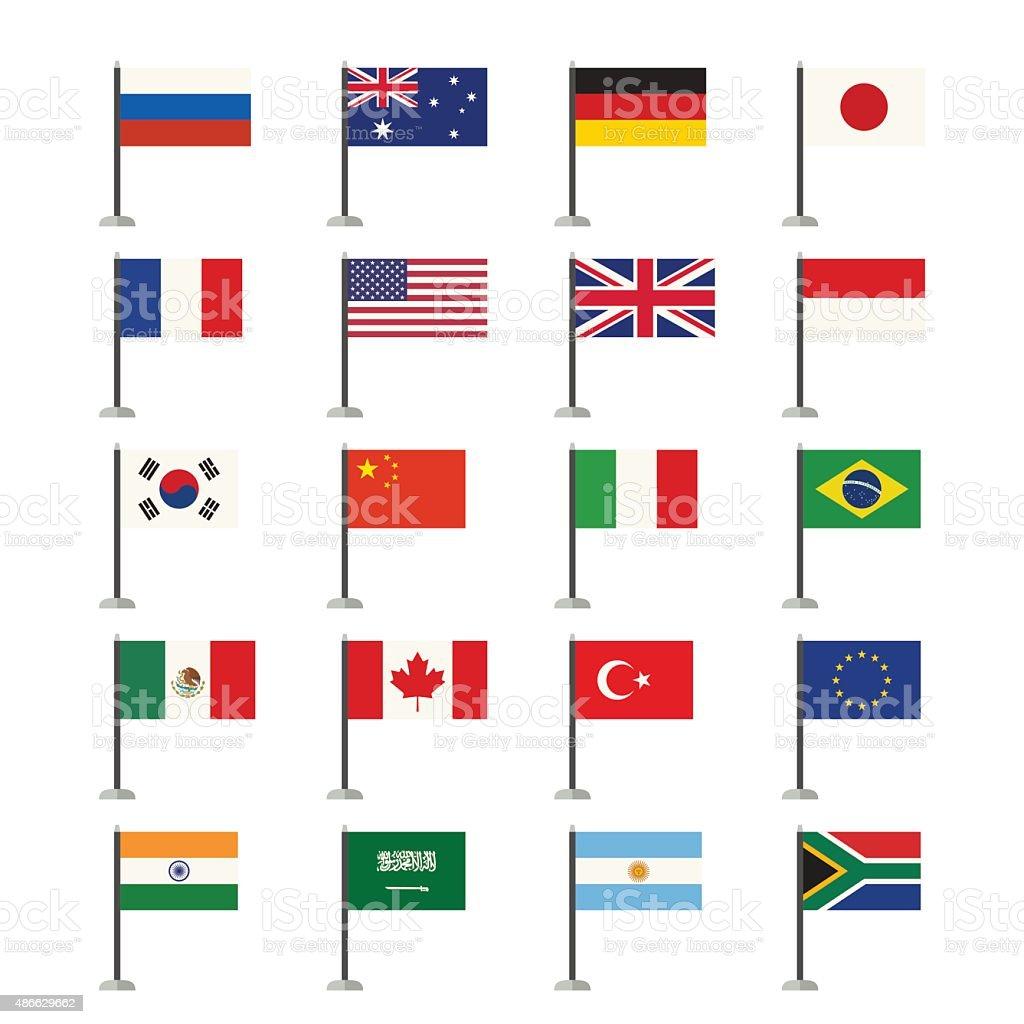 Flaggen-icons – Vektorgrafik