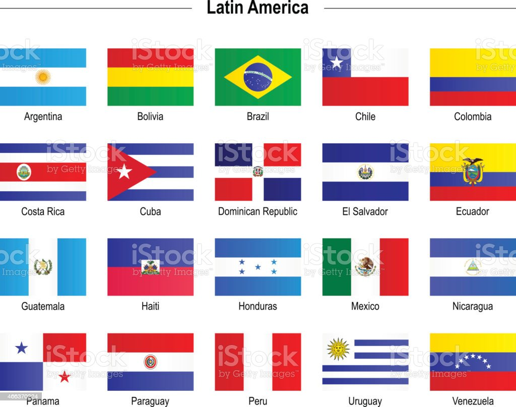 Flags - Latin America vektorkonstillustration