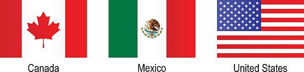 ilustraciones, imágenes clip art, dibujos animados e iconos de stock de banderas-américa del norte - bandera mexicana