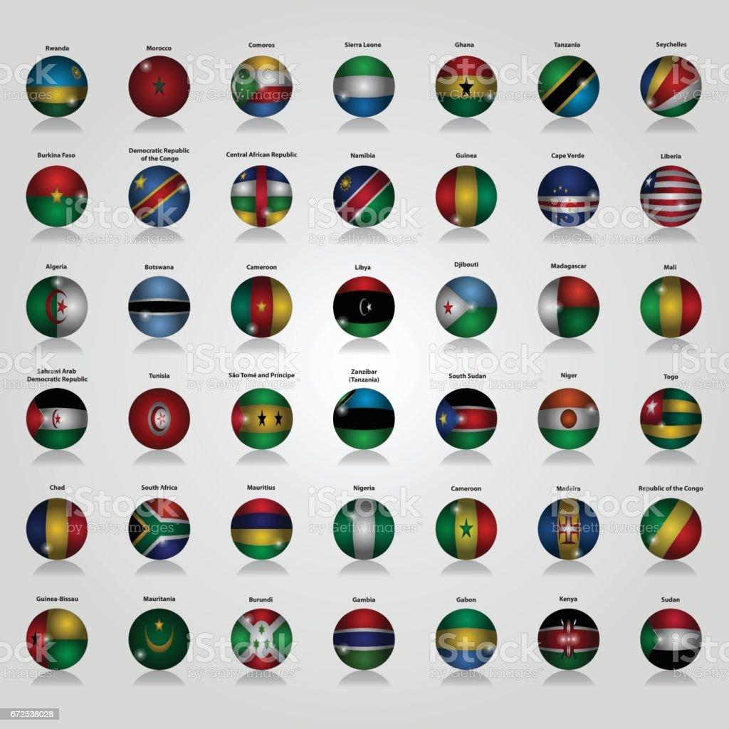 Flags of Africa Vector Illustration vector art illustration