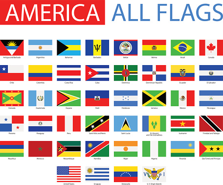 Flags of America - Full Vector Collection