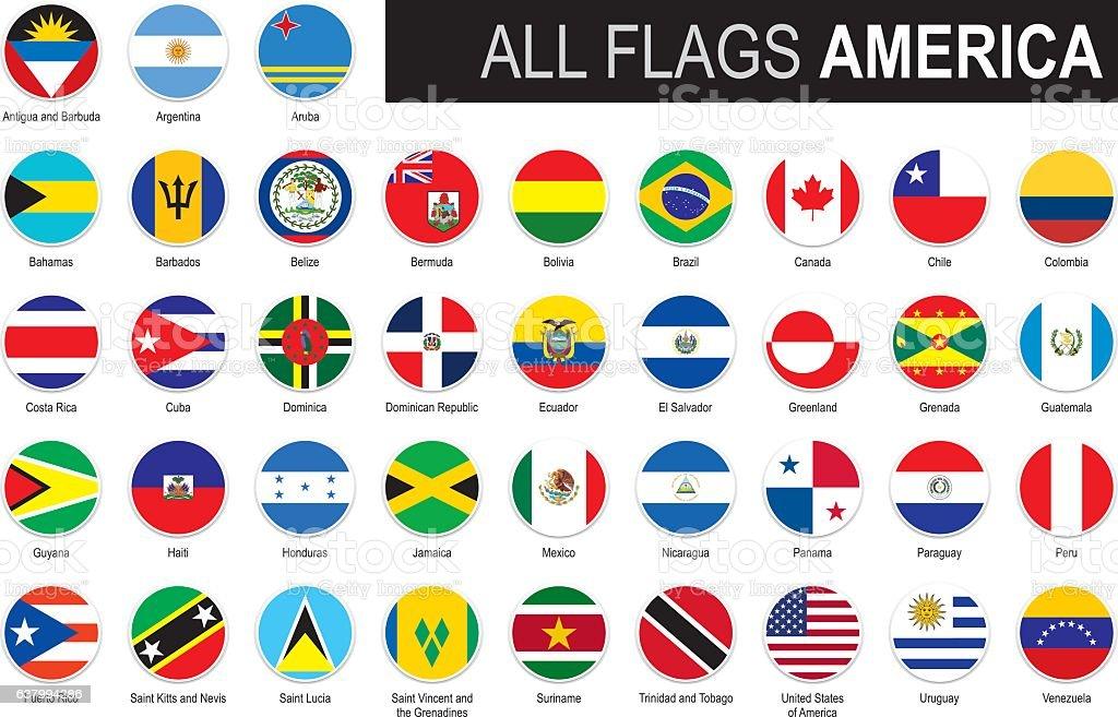 Six flags of America - ilustración de arte vectorial