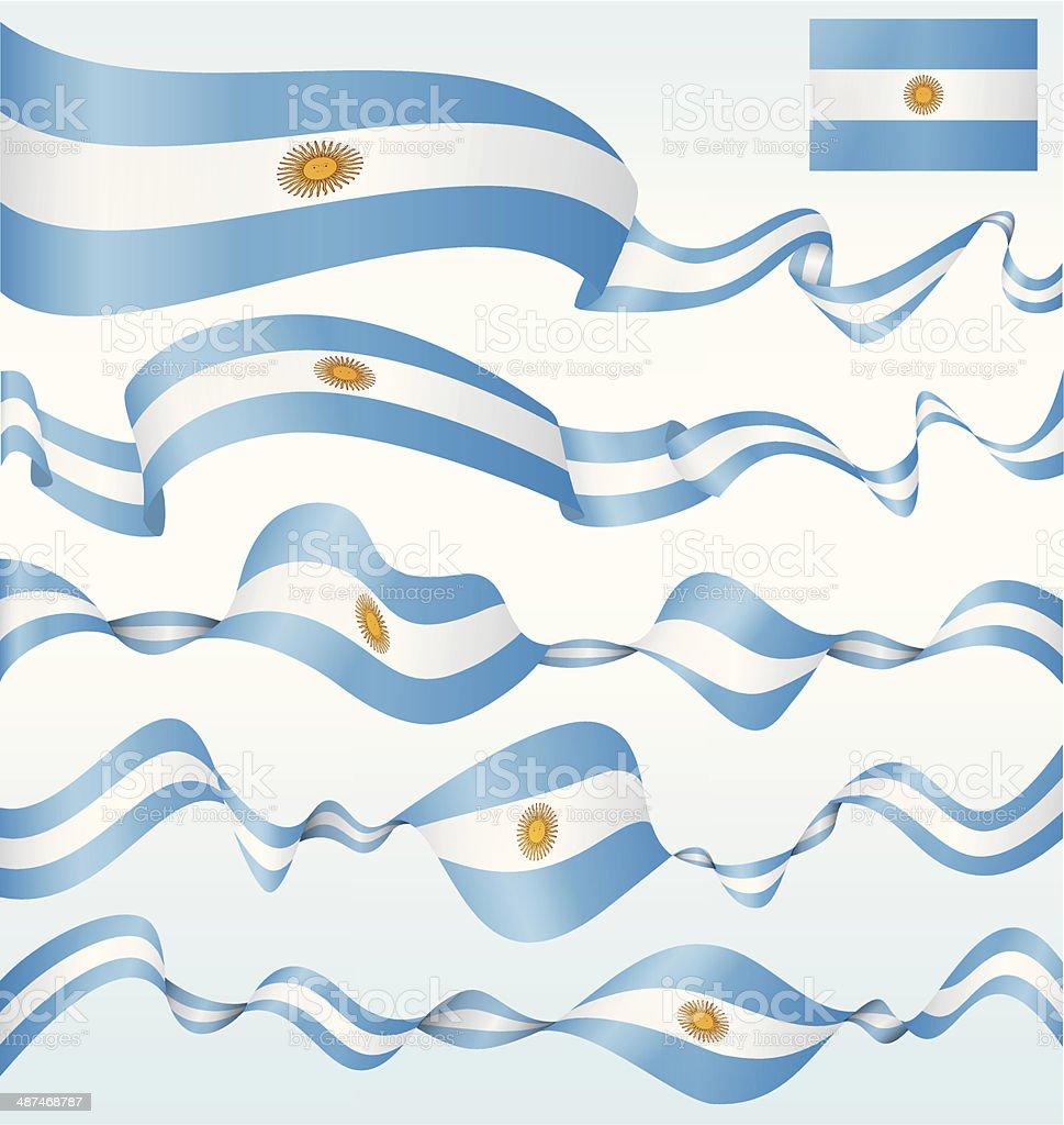 アルゼンチンの国旗-バナー ベクターアートイラスト