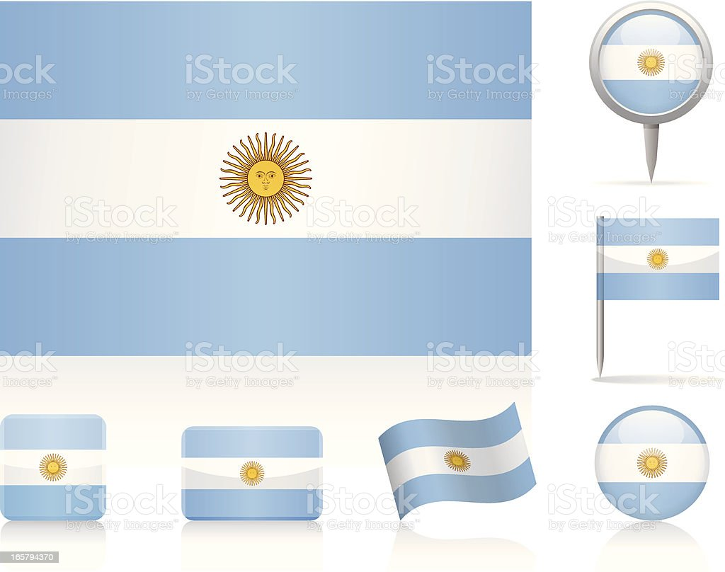 Flags of Argentina - icon set vektorkonstillustration